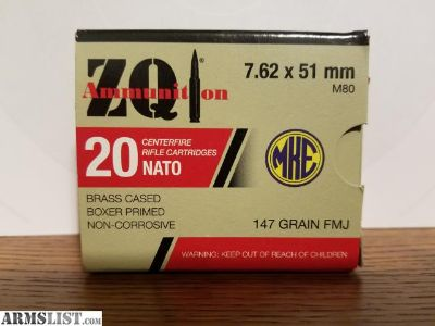 For Sale/Trade: 7.62x51mm for 10 dollars per box