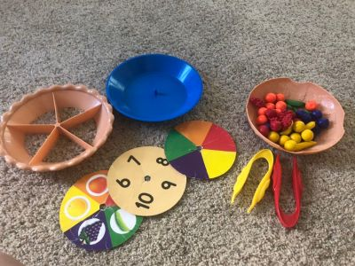 Lakeshore learning fine motor sorting pie