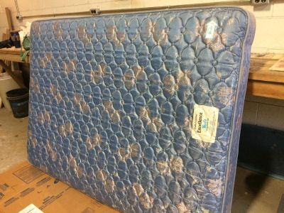 Double bed mattress and box springs