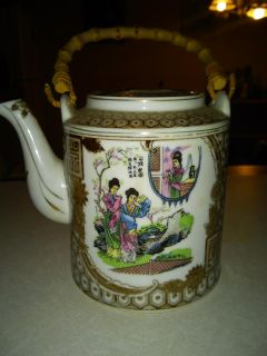Asian tee pot and cups