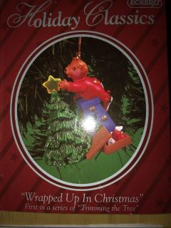 Vintage Christmas ornament wrapped up in Christmas 1998