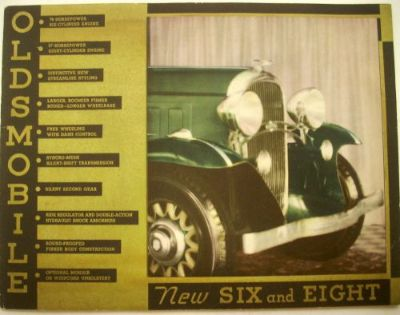 Sell 1932 Oldsmobile Six and Eight Color ORIGINAL Sales Brochure motorcycle in Holts Summit, Missouri, United States, for US $54.32