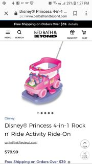 Like new condition princess ride-on toy