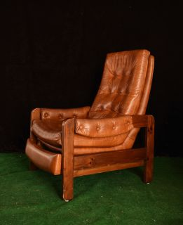vintage Stratolounger brown vinyl recliner