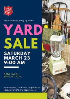 YARD SALE THIS SATURDAY