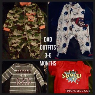 4 Dad Outfits - One Price. Size 3-6 Months