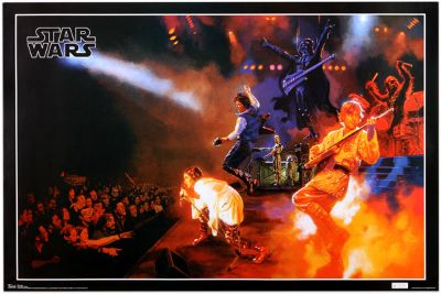 NEW VINTAGE 'STAR WARS' ROCK N ROLL POSTER