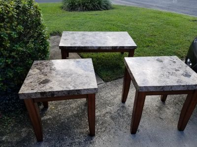 Marble topped tables