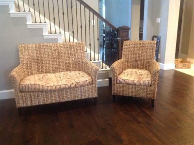 Pier 1 Banana Setee matching chair