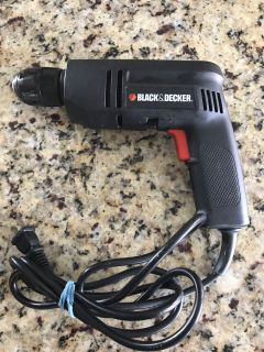 Black & Decker Keyless Chuck 3/8 Drill