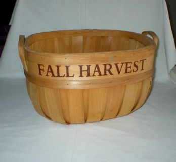 Vintage Wood Basket with Handles - Fall Harvest - Home Decor