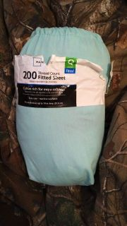 Teal blue queen size bed sheets