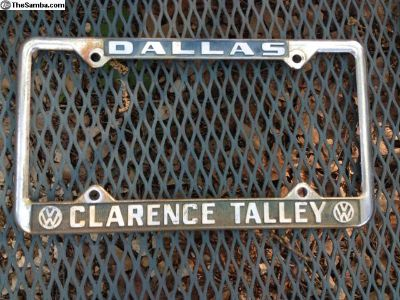 Tx Vw Dealer Clarence Talley plate frame #1