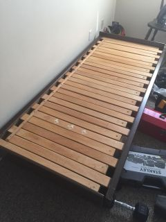 Adjustable single, double, full bed frame