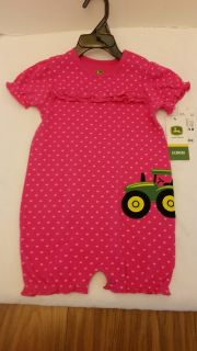 John Deere Infant Girl One Piece Bodysuit New 24 Month