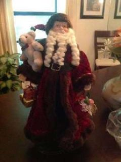 Tall Christmas Holiday Santa Doll - with stand and storage cover