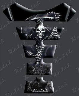 Purchase BLACK SKULL TANK PAD for Honda Kawasaki Suzuki Yamaha motorcycle in Laguna Hills, California, US, for US $9.95