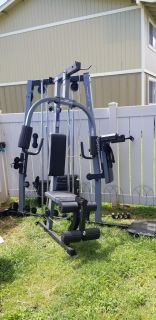 Home gym and punching bag with stand