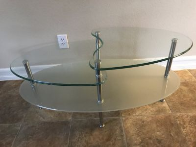 IKEA GLASS two tier coffee table