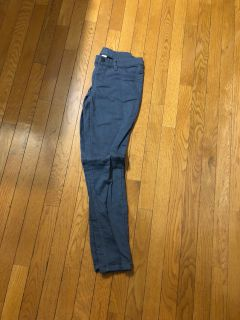 New Justice gray jean jeggings sz 14