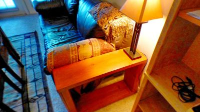 Solid Wood Cherry Finish Sofa Side Tables REDUCED PRICE