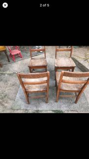 4 reg sz Chairs solid wood $80 all 4