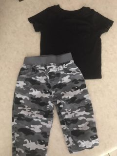 Cute Baby Boy Camo Outfit Size 6-9 Months Excellent Condition $3.00