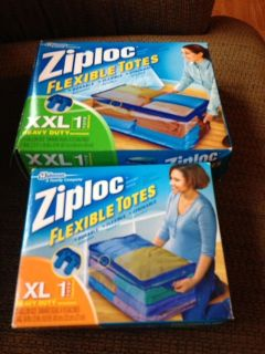 ziploc zippered flexible totes New in Box! Several available