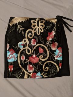 Boutique Embroidered Skirt NWOT