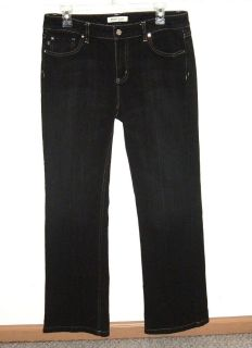 Womens 10 White House Black Market BLANC Black Wash Bootcut Denim Jeans
