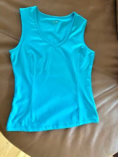 V-Neck Tank by Champion in Turquoise