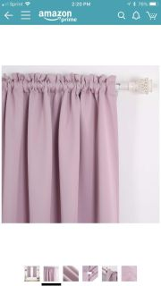 New in pkg (2 sets of 2 panels available) Deconovo pink lavender curtains 52x84 (
