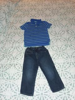 Boy's size 2t Arizona shirt and wrangler jeans like new excellent condition