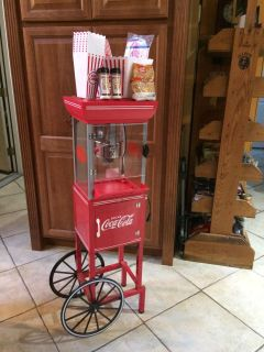 Coca Cola Popcorn Machine 46 inches high includes several items listed below.