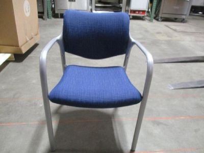 (14) Guest Chairs, Gray Metal/Blue Seat RTR#7024993-32