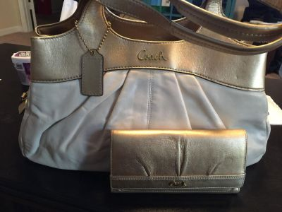 Authentic Coach Ashley purse and Matching wallet