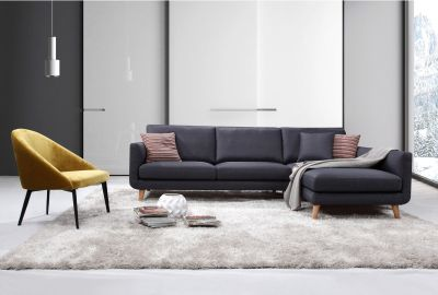 Bellaire Modern Sectional Sofa (Right Facing)