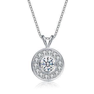 ***BRAND NEW*** Round Bezel Set CZ In Sterling Silver***