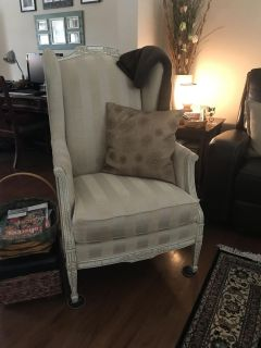 Shabby Chic wing back chair