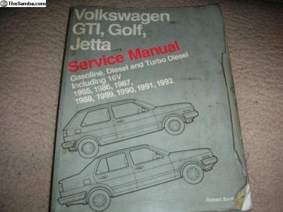 Volkswagen GTI , Golf , Jetta Service Manual