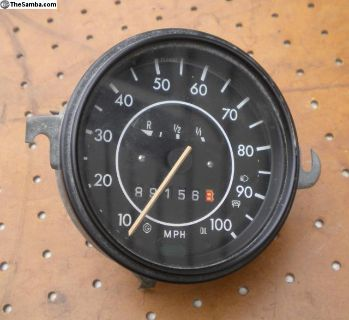 Original German VDO Speedometer w/Fuel Gauge- 1/74