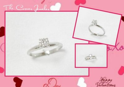 14K White Gold Hearts of Fire .50ct Diamond Ring