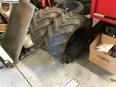 Big ol mud tires and wheels
