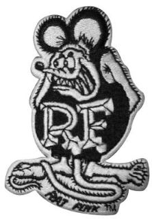 Sell RAT FINK PATCH SMALL B&W ED ROTH HOT ROD CUSTOM GASSER JACKET HAT VTG STYLE LOGO motorcycle in Sacramento, California, US, for US $14.98