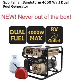 NEW! Sportsman Sandstorm 4,000 Watt Dual Fuel Generator!
