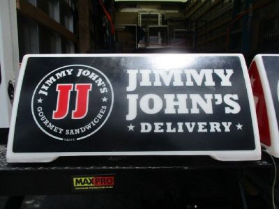 Lot of (5) Jimmy John's Magnetic Delivery Signs RTR# 9043004-15