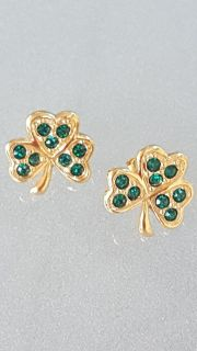 Vintage - Avon Shamrock Post Earrings