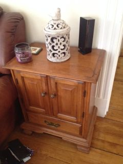 End table w/ storage, tv stand and living room tables for sale!