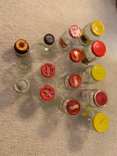 Empty glass jars for art crafts.