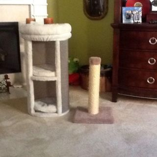3 tier cat stand/bed with cat scratching post.